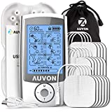 AUVON Rechargeable TENS Unit (Family Pack), 3rd Gen 16 Modes TENS...