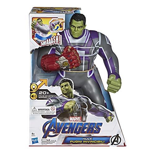 Hasbro Marvel Avengers - Endgame Hulk Pugni Invincibili, Action Figure Elettronica con 20 Suoni e...