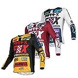 Men Pro Dirt Sport Jersey Motocross Motorcycle Clothing Long Sleeves Racewear BMX MTB DH Bike Sports Apparel Moto-x (Black,XXL)
