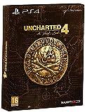 Contenu : Le jeu Uncharted 4: A Thief's End Un Steelbook Un art-book Des stickers Naughty Dog & Pirate Sigil Contenu digital : des points Naughty Dog: utilisez ces points pour débloquer du contenu multijoueur et des upgrades de personnages