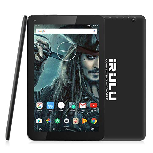 10.1 inch Tablet, iRULU Quad Core CPU Android 7.0 Tablet, Bluetooth, GPS, 16GB Storage, 1280x 800 IPS Display Google Tablet with Mini HDMI – Black