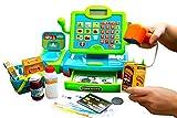 ThinkGizmos Caisse Enregistreuse Enfants Interactive - Jouet Caisse Enregistreuse avec Balance - Scanneur - Billets - Nourriture et Panier pour Les Courses – TG802