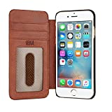 Sena Ultra Thin Wallet Book, Thinnest Book Style Wallet case Solution for The iPhone 8/7 / 6 (Cognac)