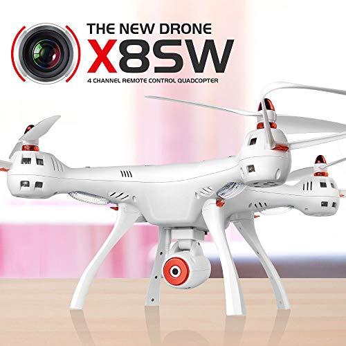Syma X8SW - Quadricottero con HD FPV WiFi Real Time Camera altezza testa testa drone RC
