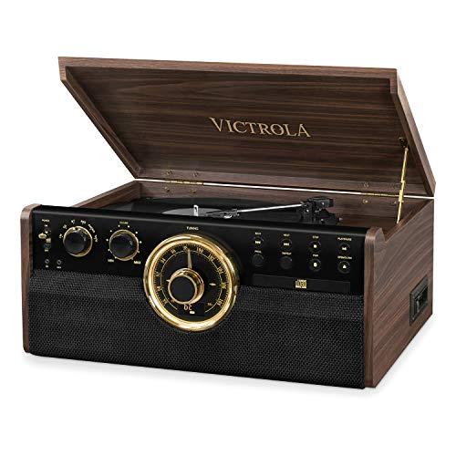 Victrola Empire Chaîne Stéréo 6-en-1 Platine Vinyle Bluetooth - Expresso