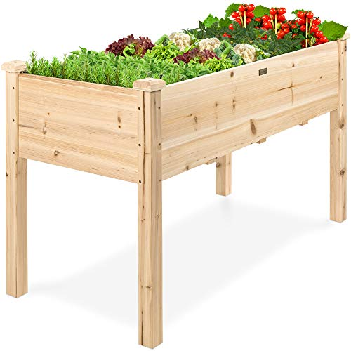 Best Choice Products Raised Garden Bed 48x24x30-inch Elevated Wood...