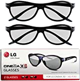 LG Cinema 3D Glasses AG-F310 2012 New Model 2 pairs Black