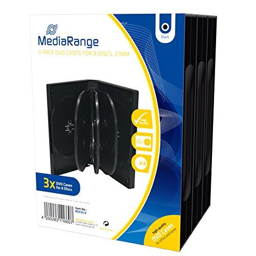 MediaRange BOX35-8 Custodia Jewel 8dischi Nero Custodia CD/Dvd