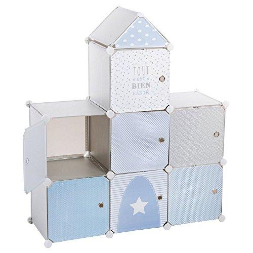 Mobile a colonna - A forma di castello - Colore: BLU, GRIGIO e BIANCO