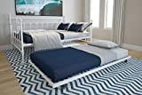DHP Manila Metal Full Size Daybed and Twin Size Trundle (White)