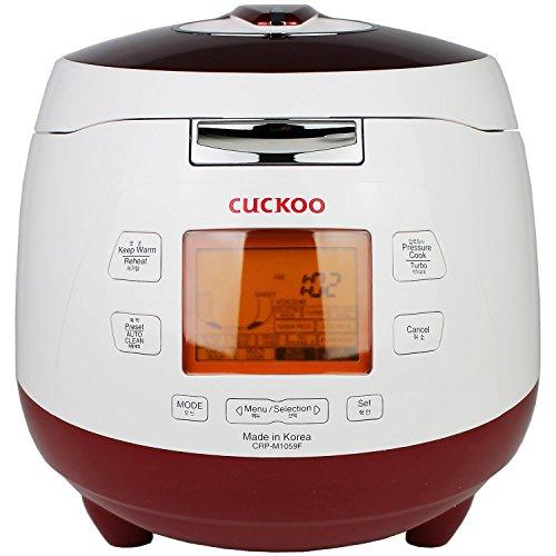 Cuckoo CRP-M1059F Digitaler Dampfdruck-Reiskocher (1,8l / 1150W / 240V) mit »Fuzzy Logic« Technologie – Reis für bis zu 10 Personen