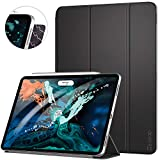 ZtotopCase for iPad Pro 12.9 Inch 2018 3rd Generation, Strong Magnetic Ultra Slim Minimalist Smart Case, Trifold Stand Cover with Auto Sleep/Wake,Support 2nd Gen iPad Pencil Charging, Black