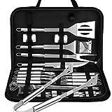 VPCOK 33 pièces Ustensiles Barbecue kit Barbecue avec Brosse Nettoyage Accessoires Barbecue Portables en Acier Inoxydable pour Grillades