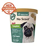 NaturVet - No Scoot for Dogs - 60 Soft Chews - Plus Pumpkin - Supports Healthy Anal Gland & Bowel Function - Enhanced with Beet Pulp, Flaxseed & Psyllium Husk