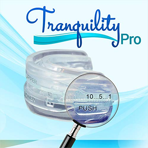 Tranquility PRO 2.0 Dental Mouth Guard - Grinding Mouthpiece - Night Time Teeth Mouthguard & Sleeping Bite Guard for Bruxism - Custom Molding & Adjustability