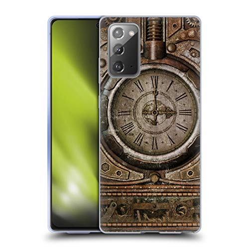 Head Case Designs Officially Licensed Simone Gatterwe Grunge Clock Steampunk Soft Gel Case Compatible With Samsung Galaxy Note20 / 5G (Electronics)