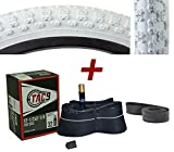 BMX White Tire - 12-1/2' x 2-1/4' w/Tube & Rim Strip