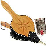 TJ.MOREE Fireplace Bellows Indoor 19'x 8' Large Wood Fire Blower with Hanging Strap, Long Handle, Metal Nozzle, Great Tool for Fireplace, Fire Pit, Wood Stove, BBQ, Outdoor Camping - Carving