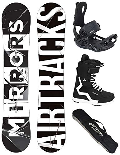 Airtracks Snowboard Set/Board Mirrors Wide 162 + Snowboard Attacchi Master + Boots Strong 46 + SB...