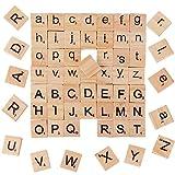 BUONDAC 200pcs Lettre en Bois Alphabet A à Z Rectangle pour Scrapbooking Loisir...