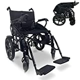 Electric Wheelchair – Foldable Lightweight Transport Chair with 360 Waterproof Joystick, Lithium Battery - Portable, Remote Control Mobility Aid Wheelchair for Disable Patients & Seniors