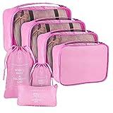 BBalm - Juego de 8 bolsas de almacenamiento para ropa impermeable con bolsa para zapatos para blusa, calcetines, ropa interior