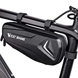 WESTLIGHT Triangle Bike Frame Bag Waterproof,3L Large Capacity Bike Bag Front for Bicycle,Top Tube Bag for Bicycles for Mountain Bike MTB BMX,Easy Install Cycle Frame Bag Triangle,Bike Pack Frame Bag
