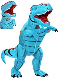 FUNNY COSTUMES Adult Size T Rex Costume Inflatable Dinosaur Costume Halloween Costume (Dino Blue Large)