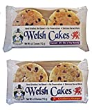 Welsh Baker Welsh Cakes - 2 Flavor Variety Box - 8 Cakes in All - 4 cakes per Package - Currant and Cranberry Orange