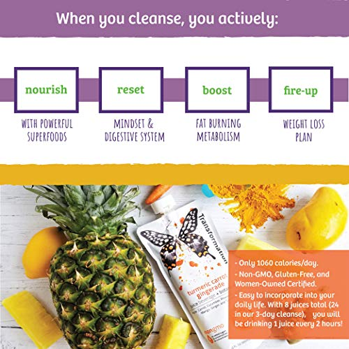 LEMONKIND Purify and Debloat 1 Day Reset Cleanse for Healthy Weight Loss Jumpstart, Detox, Improved Digestion & Increased Energy – Plant-Based Superfoods, Non-GMO & Gluten-Free Certified - 8 Juices 2 - My Weight Loss Today