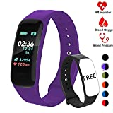 Fitness Tracker,Activity Tracker Watch with Heart Rate Blood Pressure Blood Oxygen Monitor,Waterproof Smart Fitness Band with Step Counter,Calorie Counter,Sleep Monitor for Kids Women and Men (VLT5)