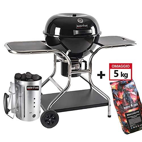BRIGROS - Barbecue 57cm a carbonella con Ruote MasterCook. Omaggio Accenditore MasterCook e...