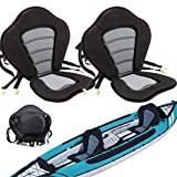 Fuzbaxy 2Pack Marine Kayak Seat Deluxe Canoe Seat with Detachable Back Storage Bag