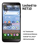 Net10 TCL A1X 4G LTE Prepaid Smartphone with $40 Airtime Bundle