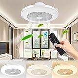 FULLOVE Ventilateur plafonnier moderne créatif plafonnier LED ventilateur de...
