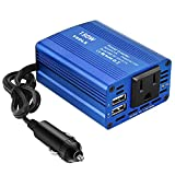 YSOLX 150W Car Power Inverter DC 12V to 110V AC Converter with 3.1A Dual USB Car Charger Adapter...