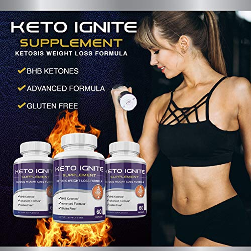 Keto Ignite Supplement - Ketosis Weight Loss Formula - BHB Ketones - 60 Capsules - 30 Day Supply 5