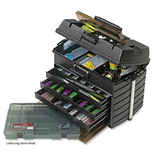 Meiho Versus VS 8050 Angelbox - Angelkasten 542 x 300 x 397 mm, Angelkoffer grün, Angelbox auch als Angelsitz zu verwenden!