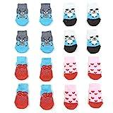 NA/ 4 paires de chaussettes antidérapantes pour chien et chat...