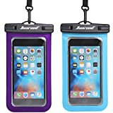 Hiearcool Universal Waterproof Case,Waterproof Phone Pouch for iPhone 11 Pro Max XS Max XR X 8 7 6S Plus Samsung Galaxy s10/s9 Google Pixel 2 HTC Up to 7.0'IPX8 Cellphone Dry Bag -2 Pack