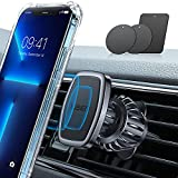 LISEN Car Phone Holder Mount, [Upgraded Clip] Magnetic Phone Car Mount [6 Strong Magnets] Cell Phone Holder for Car [Case Friendly] iPhone Car Holder Compatible with All Smartphones & Tablets