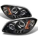 For Cobalt Pontiac G5 Pursuit Black Halo Ring LED Projector Replacement Headlights Driver/Passenger Lamp