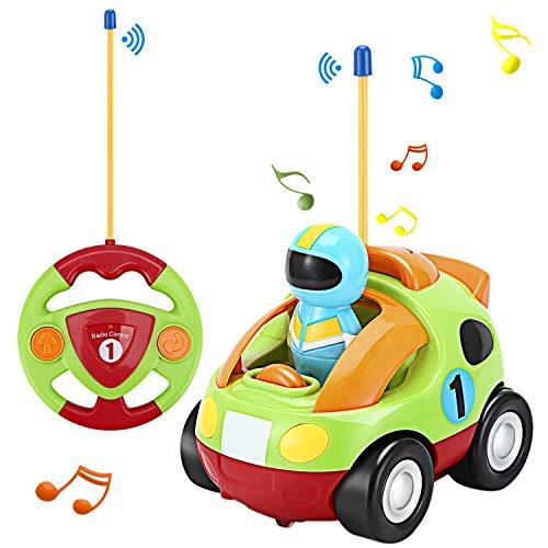OCDAY Ferngesteuertes Auto Spielzeugauto für Kleinkinder Rennauto ab 2 Jahren mit Lichtern und Sound, Geschenk für Jungen Mädchen Kinder