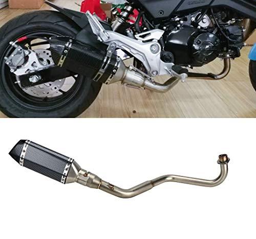 バイクサイレンサー スリップオンマフラー Grom Msx125 2013-2020 エキゾーストパイプ カーボンステッカー 55mm