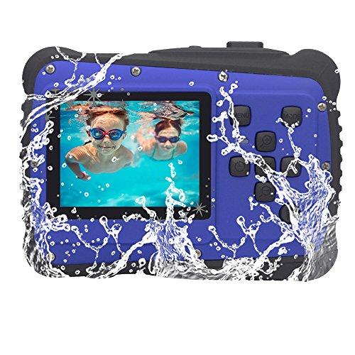 Vmotal GDC5261 Fotocamera Digitale Impermeabile con Zoom Digitale 8X / 8MP / 2' Schermo LCD TFT/Camera Impermeabile per Bambini Regalo di Natale (Blu)