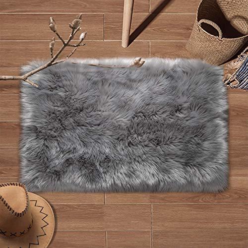 YIHAIC Faux tappetto di pelle di pecora tappeto , Pecora Agnello imitazione pelliccia sintetica...