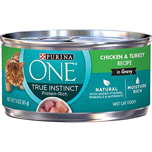 Purina ONE Natural Gravy Wet Cat Food, True Instinct Chicken & Turkey Recipe in Gravy