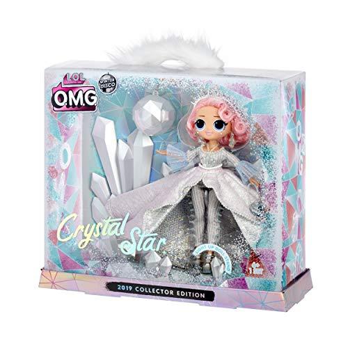 Image 4 - L.O.L. Surprise, O.M.G. Collector Winter Disco - 1 Poupée 27cm Collector, 1 support effet crystal lumineux, accessoires, piles incluses, jouet pour enfants dès 3 ans, LLU97