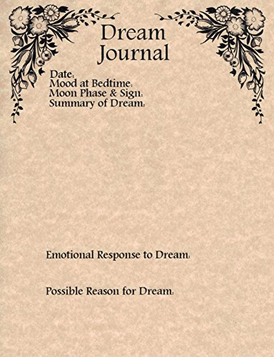 Set of 10 Dream Journal Worksheets for Book of Shadows,...