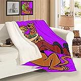 VICWOWONE Scooby Doo - Manta decorativa de terciopelo de cordero para niños, regalo de cumpleaños para niños, decoración de cama, tamaño 50 x 70 pulgadas